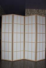 Ширма-перегородка МДФ + ткань 4 секции, 1800мм*1920мм., фото 3