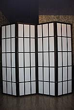 Ширма-перегородка МДФ + ткань 4 секции, 1800мм*1920мм., фото 2