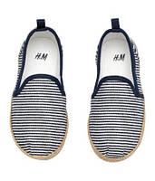 Эспадрильи H&M для мальчика в полоску