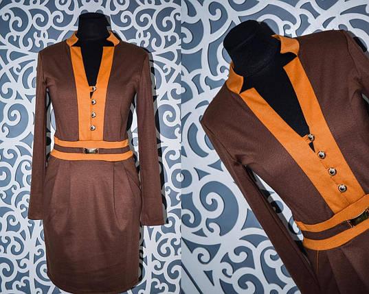 """Женское платье """"Французский трикотаж"""" 44 размер норма, фото 2"""