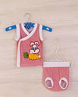 Летний костюм из хлопковой ткани для новорожденных «Хрустик»