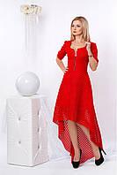 """Яркое красное нарядное платье, супер новинка 2017 года - """"Ория"""" код 959"""