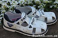 Белые детские ортопедические босоножки на девочек подростка тм Томм р.34,35,37