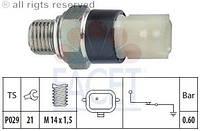 Датчик давления масла на  Renault Dokker 2012-> 1.5dCi  —  EPS (Италия) - 1 800 178