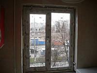 Двухстворчатое пластиковое окно Rehau Euro 60 Киев с однокамерным стеклопакетом