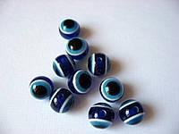 Темно-синие глазки-бусинки,  10 мм