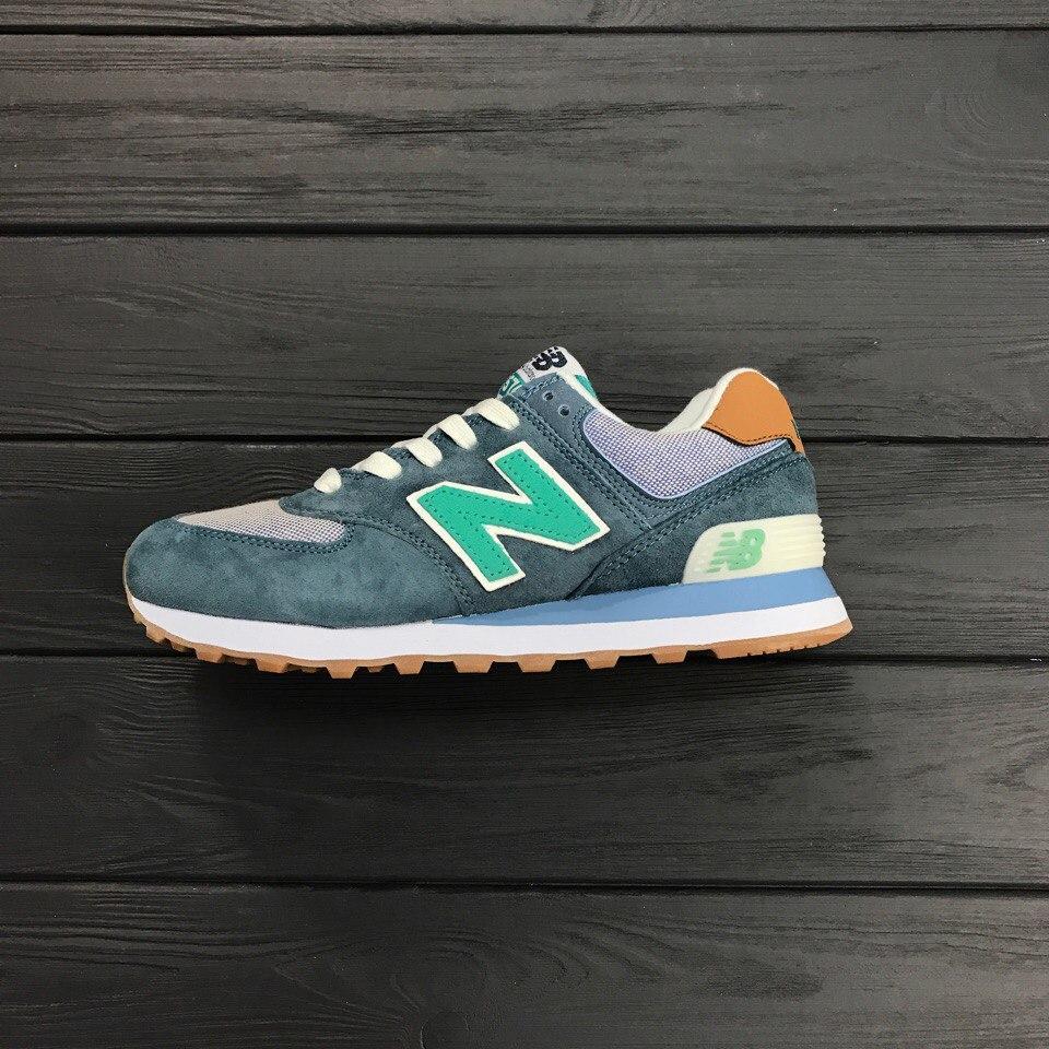 "Кроссовки New Balance NB 574 ""Grey/Turquoise"""