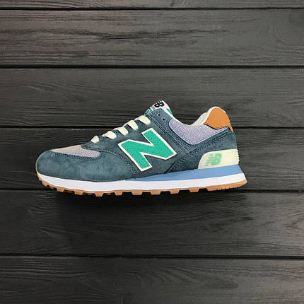 "Кроссовки New Balance NB 574 ""Grey/Turquoise"", фото 2"