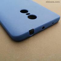 Матовый синий чехол для Xiaomi Redmi Note 4
