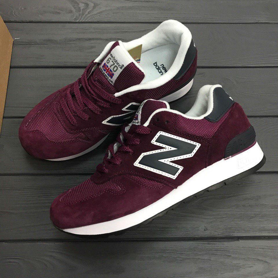 Кроссовки New Balance NB 670 M670 SBN Burgundy