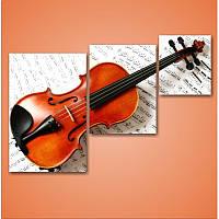 "Модульная картина ""Скрипка""  (920х1360 мм)  [3 модуля]"