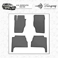 Комплект резиновых ковриков Stingray для автомобиля  Kia Sorento 2002-2009     4шт.