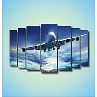 "Модульная картина ""Самолет""  (1100х1770 мм)  [7 модулей]"
