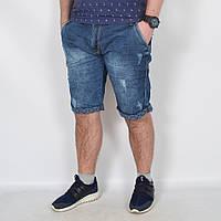 Мужские джинсовые шорты батальных размеров - Турция - модель 144-14