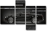 "Модульная картина ""Форд Мустанг""  (620х960 мм)  [4 модуля]"