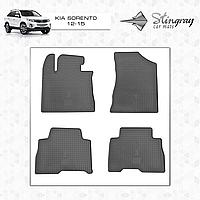 Комплект резиновых ковриков Stingray для автомобиля  Kia Sorento 2012-2015     4шт.