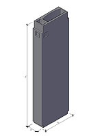 Вентиляционные блоки ВБ 3-33-2(910х300х3280мм)