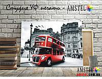Интерьерная печать на холсте - Красный автобус (300x400 мм)