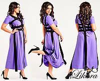 Женское оригинальное длинное платье больших размеров