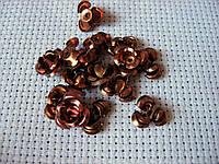 Роза алюминиевая. Коричневая, 10 мм