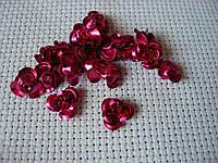 Роза алюминиевая. Ярко-розовая, 10 мм