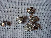 Роза алюминиевая. Серебристая, 10 мм