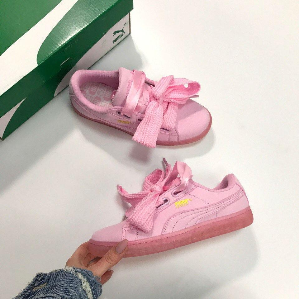 huge selection of 2a82a 47337 Кроссовки Puma Basket Suede Heart Patent