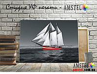 Интерьерная печать на холсте - Красная яхта (300x400 мм)
