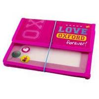 """Папка для зошитів 1ВЕРЕСНЯ 491116 В5 пластик. на резинці """"Оксфорд"""" рожевий (1/12)"""