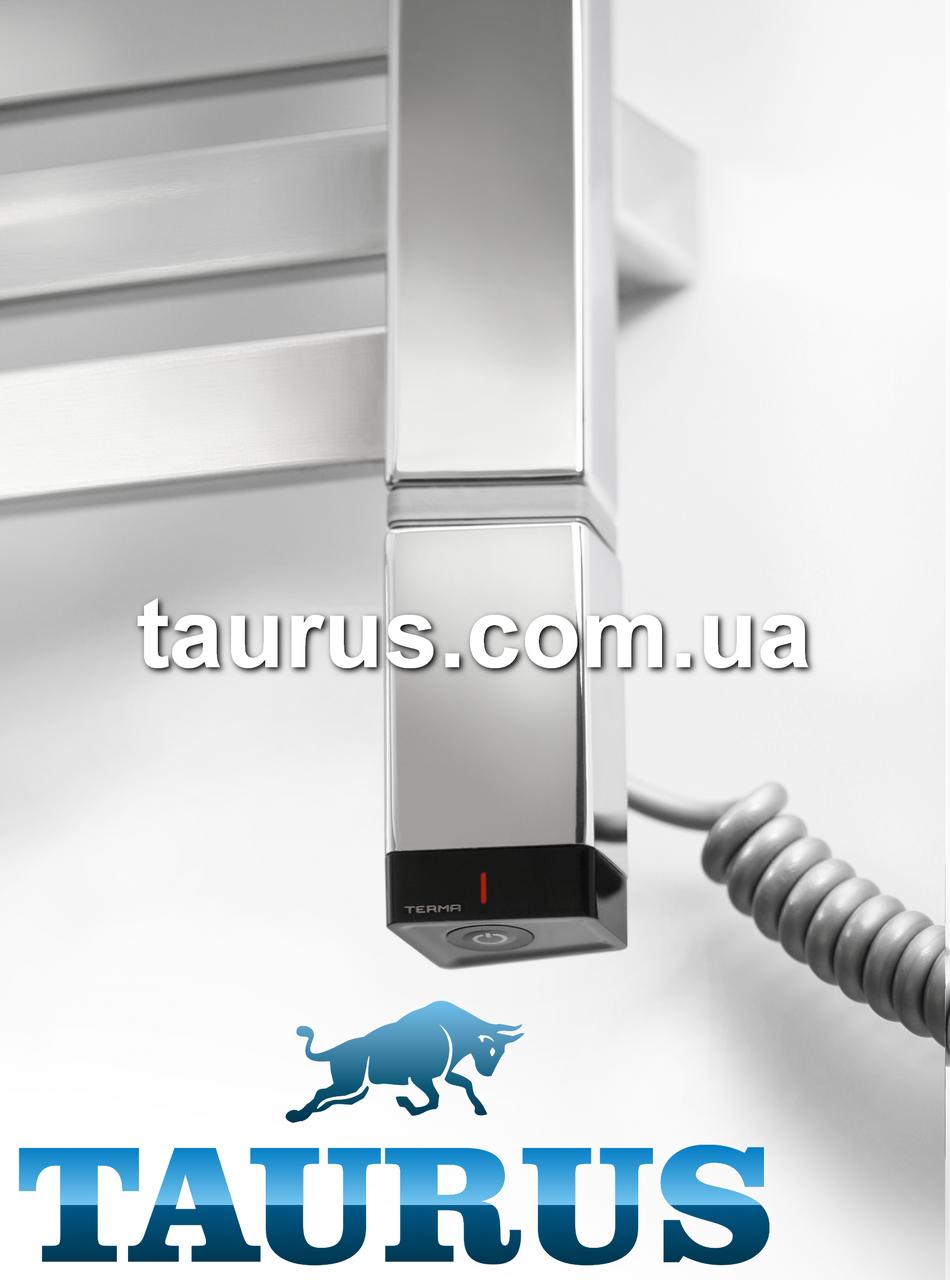 Стальной электроТЭН TERMA ONE профиль Трапеция 36х40: регулятор + таймер 2 ч.+ LED, под пульт ДУ. Хром. Польша