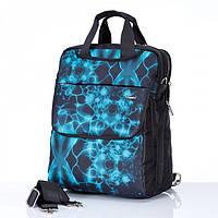 Сумка-рюкзак Dolly 370 трансформер две ручки городской формат А4 два отдела 31см х 37см х 20см