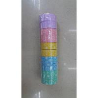 """Скотч декоративный бумажный 8101-3 """"Цветы контур"""" 1,5см*5м"""