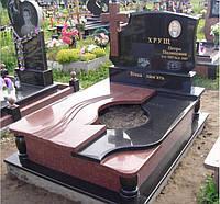 Двойной памятник из надгробной плитой