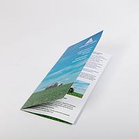 Сложенный в один или несколько раз листик — буклет