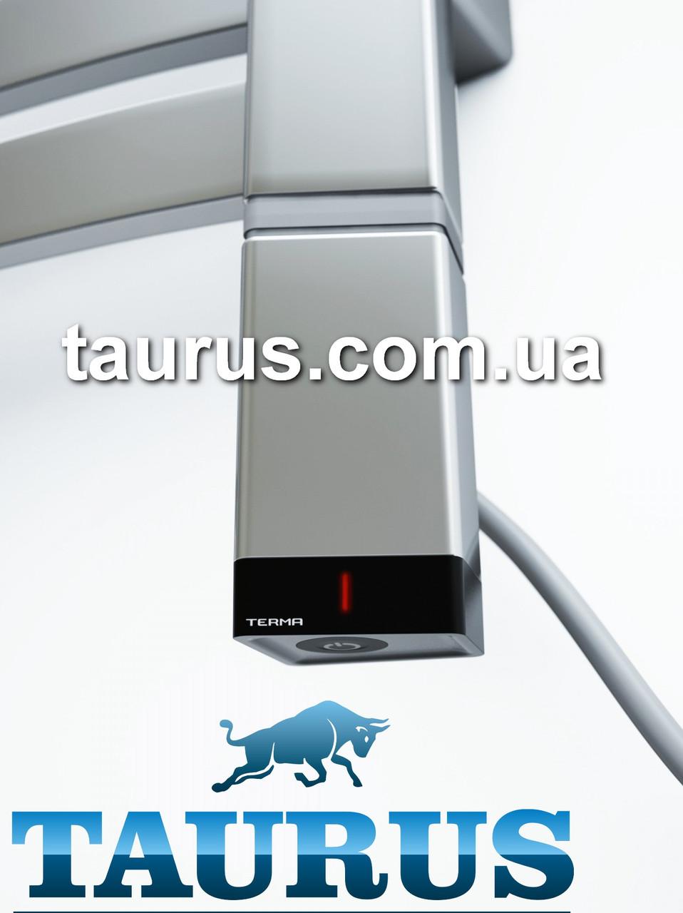 Серебряный электроТЭН ONE профиль Трапеция 36х40: регулятор +таймер 2 ч. + LED, под пульт ДУ. Серый. Польша