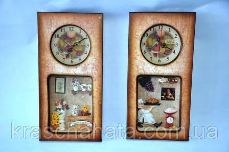Часы-панно  настенные, Цветы/Повар, Декор для дома, Днепропетровск