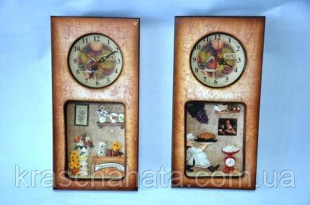 Часы-панно  настенные, Цветы/Повар, Декор для дома, Днепропетровск, фото 1