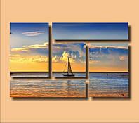 """Модульная картина """"Прогулка по морю""""  (660х1060 мм)  [5 модулей]"""