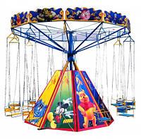 Детская цепочная карусель Радуга-12-3м - парковые аттракционы