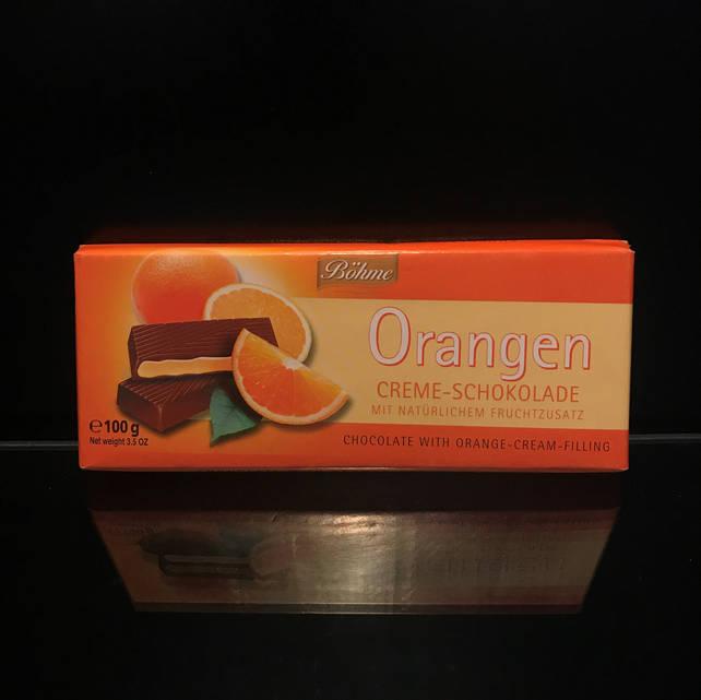 Мини-шоколадка Bohme Orangen (Бохмэ) с апельсином 100г