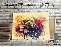 Картина Роза акварель печать на Холсте Картины