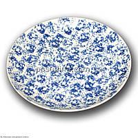 Тарелка фарфоровая Farn Siesta 210мм. Голубой лео