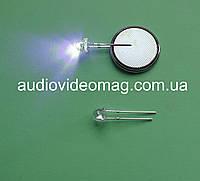 Светодиод синий 3V 4,8 мм для фонаря