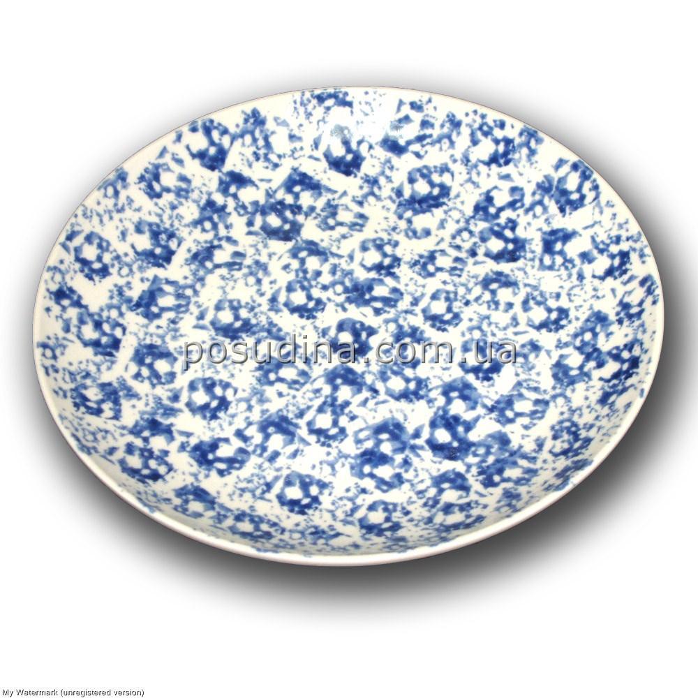 Тарелка фарфоровая Farn Siesta 310мм. Голубой лео