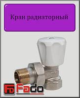 """Кран радиаторный верхний Fado Classic 1/2"""" угловой"""