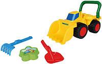 Бульдозер с игрушками для песка Wader  (75038)