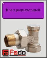 """Кран радиаторный нижний Fado Classic 1/2"""" угловой"""