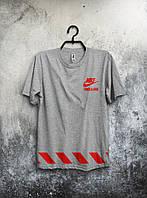 "Футболка мужская Nike ""Trask & Field"" (серая) реплика"