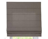 Римская штора с тканью Лен Серый ширина 80 см /высота 160 см