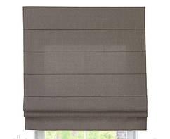 Римская штора с тканью Лен Серый ширина 40 см /высота 160 см